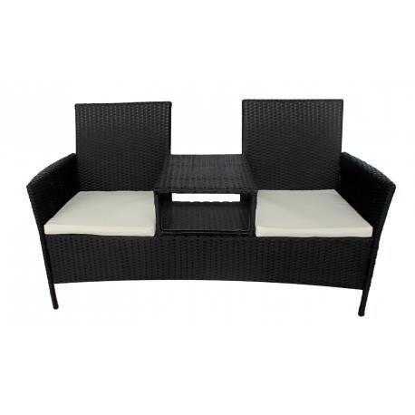 fauteuil double en rotin noir achat vente fauteuil. Black Bedroom Furniture Sets. Home Design Ideas