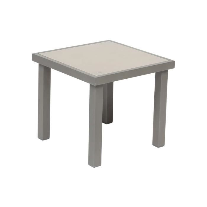 Table d\'appoint PIAZZA 40 x 40 cm Taupe - Hespéride - Achat ...