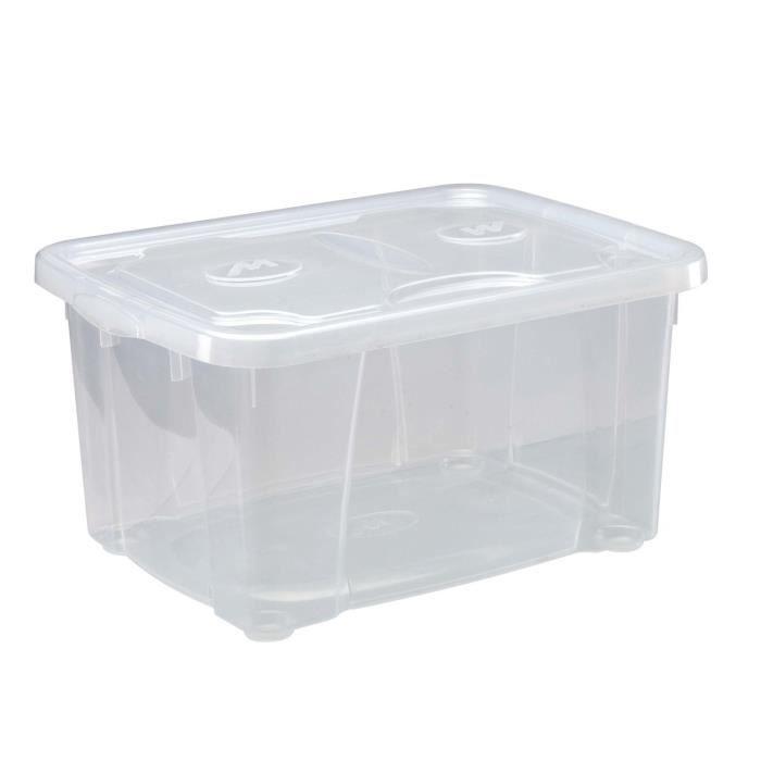 caisse plastique avec couvercle great bac en plastique gerbable et embotable bac navette avec. Black Bedroom Furniture Sets. Home Design Ideas