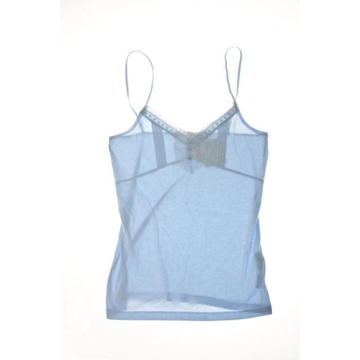 BERENICE - Top Ciel Femme Bleu Bleu - Achat   Vente débardeur ... de6bbd9e0310
