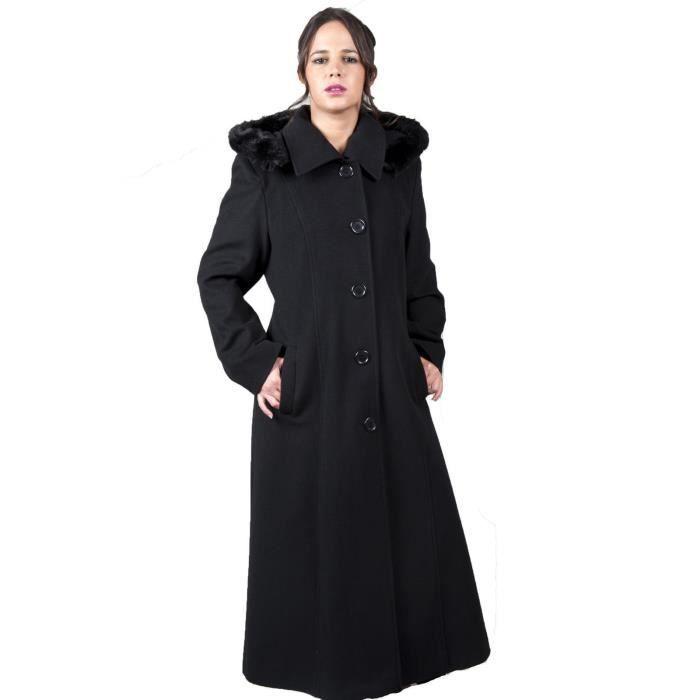 de la creme hiver capuche femme manteau long beige achat vente manteau caban cdiscount. Black Bedroom Furniture Sets. Home Design Ideas