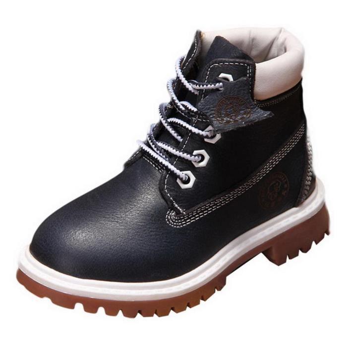 EOZY Boots Bottine Enfant Garçon Chaud Hiver Bleu AresM8HqJR