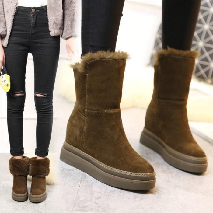 bottes de neige hiver femelle plat avec des étudiants velours épaississement des chaussures courtes