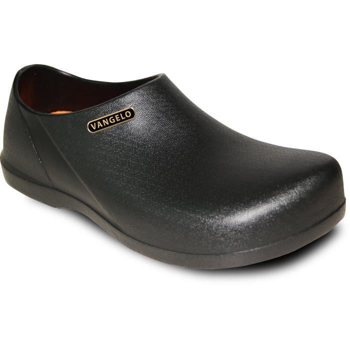 Slip professionnelle résistant Clog travail unisexe chaussures Carlisle Noir HSIH9 Taille-39