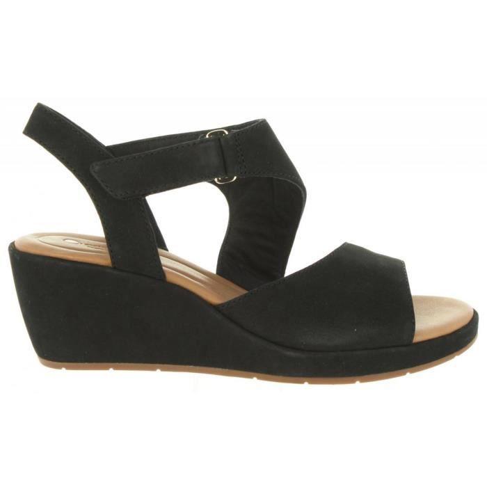 Sandales pour Femme CLARKS 26132314 UN PLAZA BLACK NUBUCK