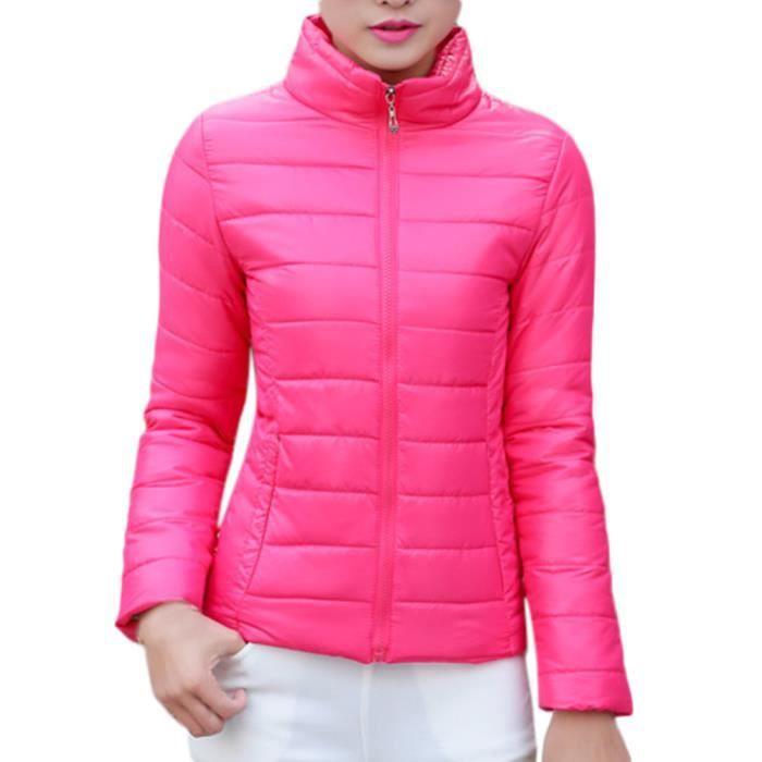 Chaud Doudoune rouge Mince Parka D'hiver Manteau De Pied Femmes Col Manteaux Veste Outwear EER1ZqH