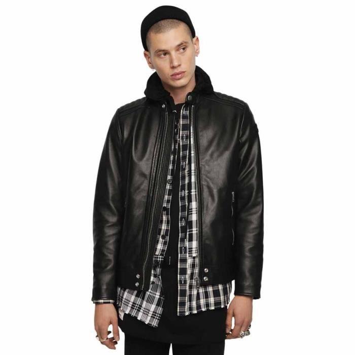 d28e2d76be88 Vêtements Homme Vestes Diesel Shiro Wh Noir Noir - Achat   Vente ...