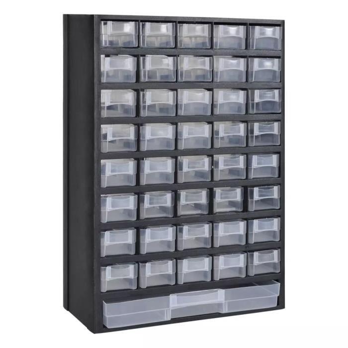 bas prix dc477 1d601 Armoire à outils Meuble de rangement avec 41 tiroirs Plastique 31 x 13,8 x  49 cm