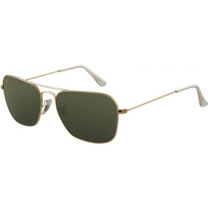 74f6ff1b65b5 RAY BAN Lunettes de Soleil Caravan RB3126 Doré Mixte Argenté - Achat    Vente lunettes de soleil Mixte - Cdiscount