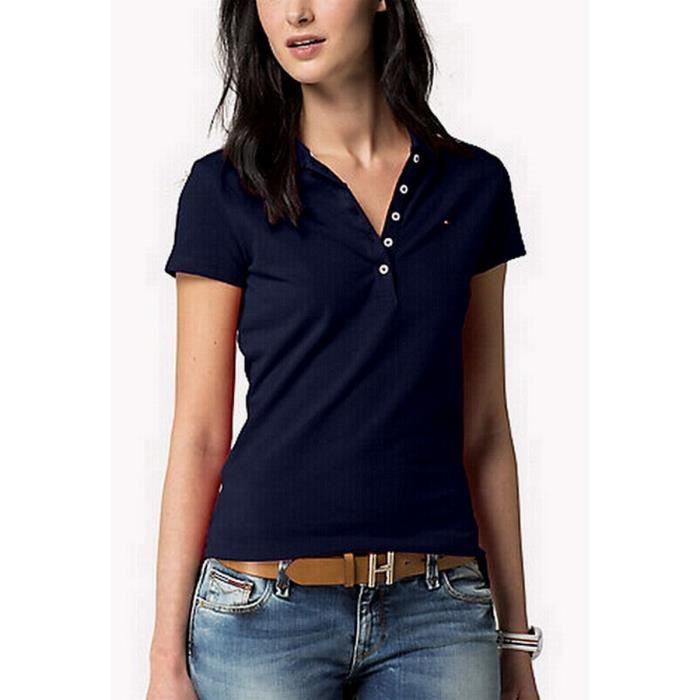 54325f855e5 Polos Manches courtes Femmes TOMMY HILFIGER - Achat   Vente polo ...