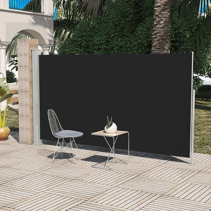 PARAVENT Paravent latéral noir 180 x 300 cm