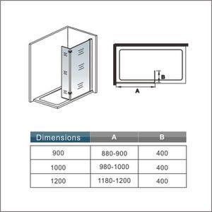 paroi de douche 100 cm achat vente paroi de douche 100 cm pas cher soldes d s le 10. Black Bedroom Furniture Sets. Home Design Ideas