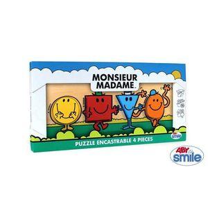 PUZZLE Puzzle encastrable bois 4 pièces Monsieur Madam…