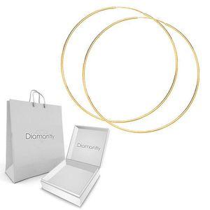 Boucle d'oreille Creoles or flexible fil rond 1mm D. externe 40 mm