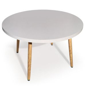 TABLE A MANGER SEULE Table ronde scandinave Ines Blanc