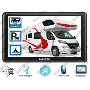 PACK GPS AUTO GPS CAMPING CAR 9 POUCES HD AIRES EUROPE MISE A JO
