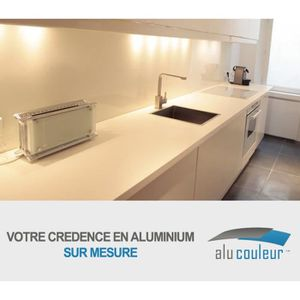 Credence cuisine blanc achat vente pas cher for Protection credence cuisine