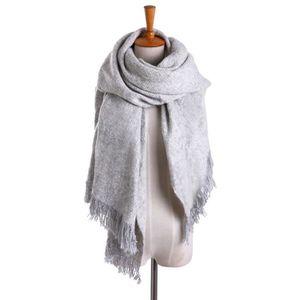 4608979dd3aa Écharpe femme cachemire hiver automne grande châle de portage laine chaud  desigual cadeaux de Noël rectangle