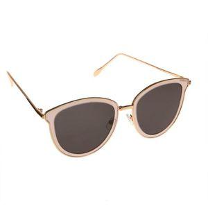 LUNETTES DE SOLEIL Lunettes de soleil oeil de chat dorées verres noir 3b796c879afc