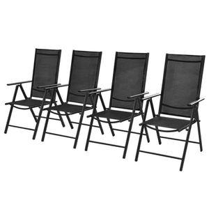 FAUTEUIL JARDIN  Chaises d'extérieur 4 pcs 54x73x107 cm Aluminium N