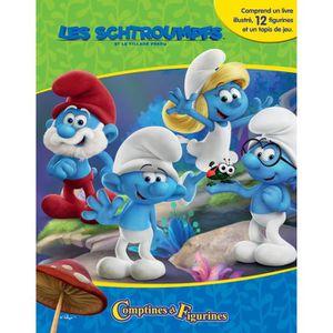 LIVRE D'ÉVEIL SCHTROUMPFS 3 12 figurines et un tapis de jeu - Li