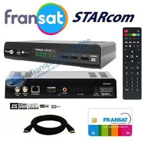 RÉCEPTEUR - DÉCODEUR   RECEPTEUR SATELLITE HD + CARTE FRANSAT + CABLE HDM