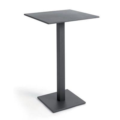 Table haute pliante carrée 70 cm alu anthracite Otrante - Achat ...