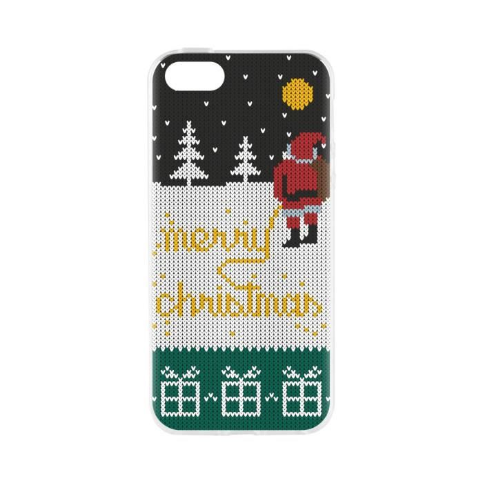 FLAVR Coque Cardcase Ugly Xmas Sweater Yellow Snow - Iphone 5 / 5s / SE