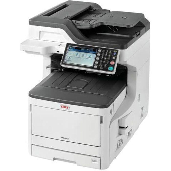 OKI Imprimante Multifonction 4-en-1 MC853dn - A3 - Couleur - Recto Verso - Réseau