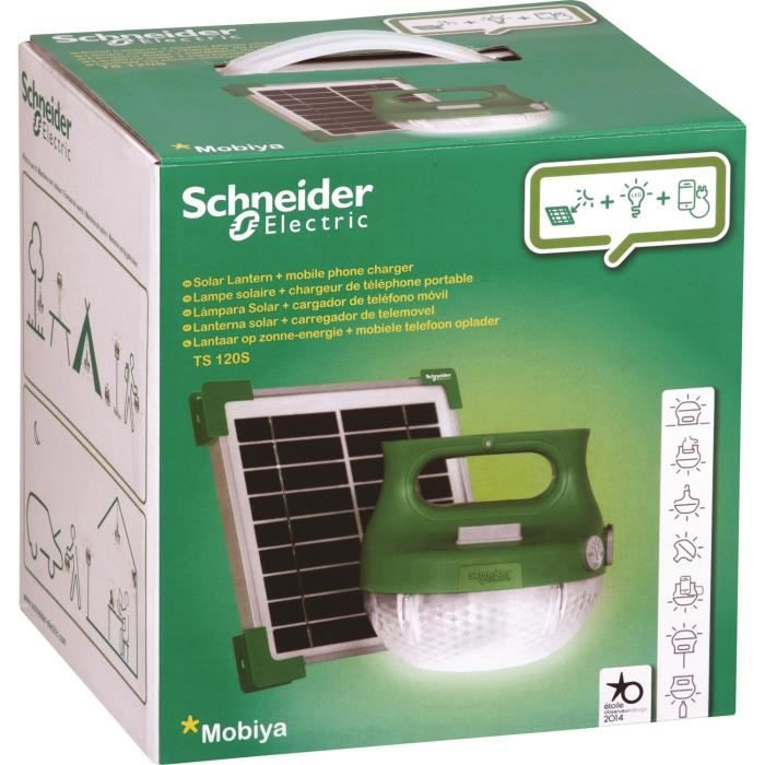 SCHNEIDER ELECTRIC Lampe mobile à recharge solaire LED - IP65