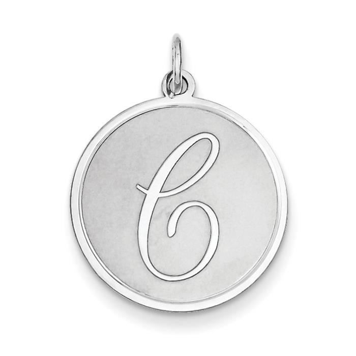Argent Sterling brochée Initial C charme