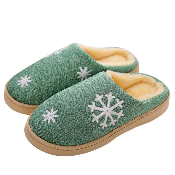 Chaudes Faux Maison Hiver Fourrure Pantoufles sdm70912257gn Chaussures De Napoulen®hommes En Vert Zxdw4Bdq