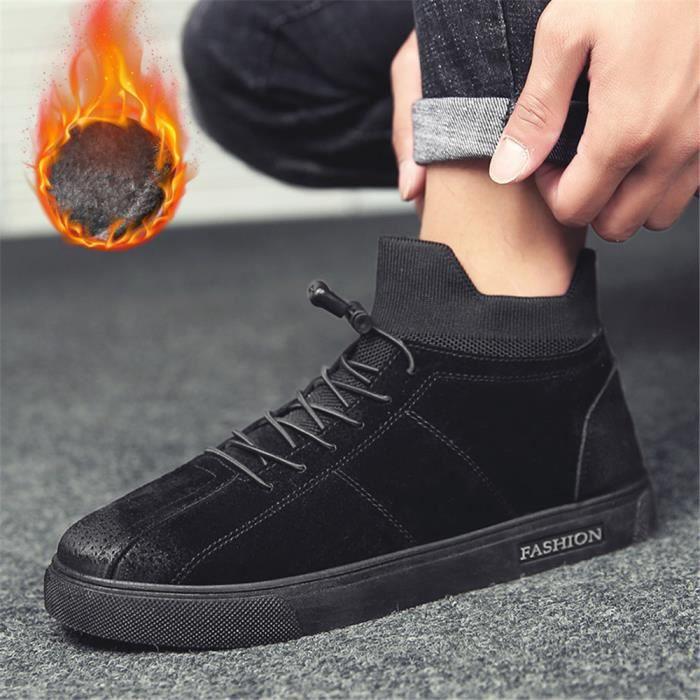 Sneakers Homme De Marque De Luxe Plus De Cachemire Garder au chaud Nouvelle Mode Meilleure Qualité Super Chaussures Durable 39-44 qo9iYxdv94