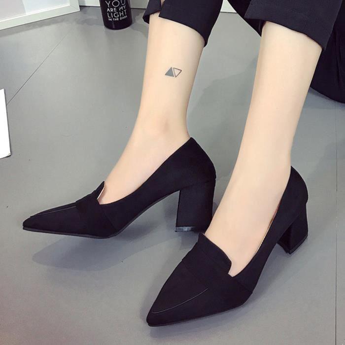 Pour Chaussures Talons Bouche Cap®5140 Peu Profondes Femmes Simples Hauts Pointue Sauvages 7zn6F