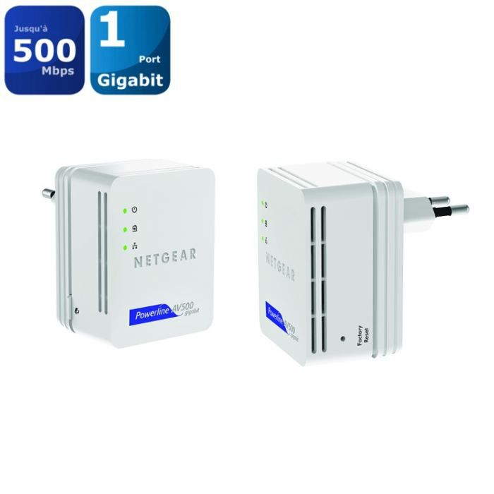 POINT D'ACCÈS Netgear Pack 2 CPL Ethernet 500Mbps XAVB5101