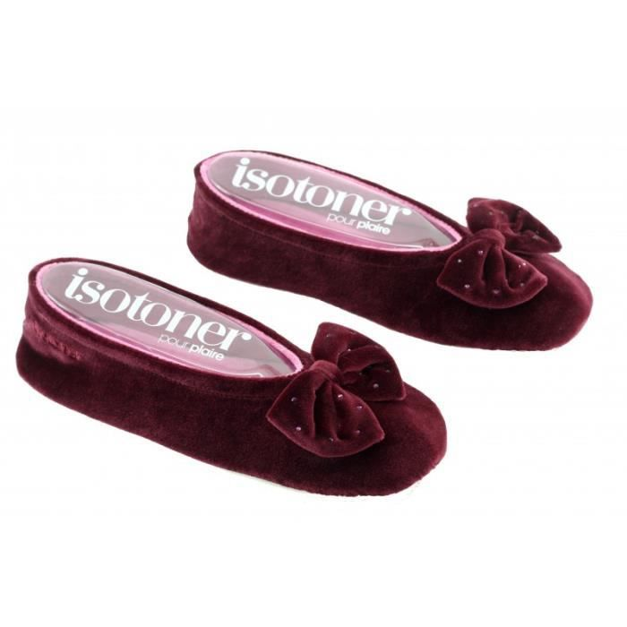Chaussons ballerines femme grand noeud - 95991
