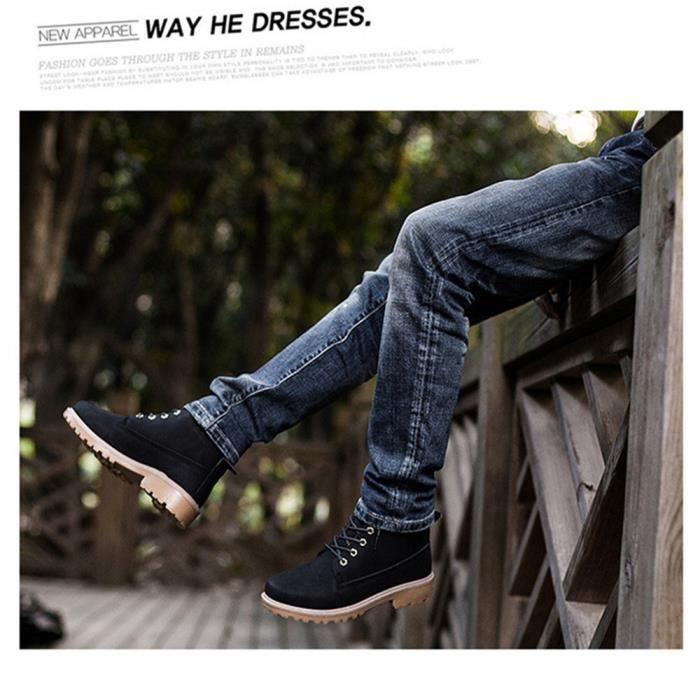 Martin Bottines Femmes Confortable Classique En Cuir Peluche Boots BXFP-XZ031Noir37-jr FZCMlzQvuY