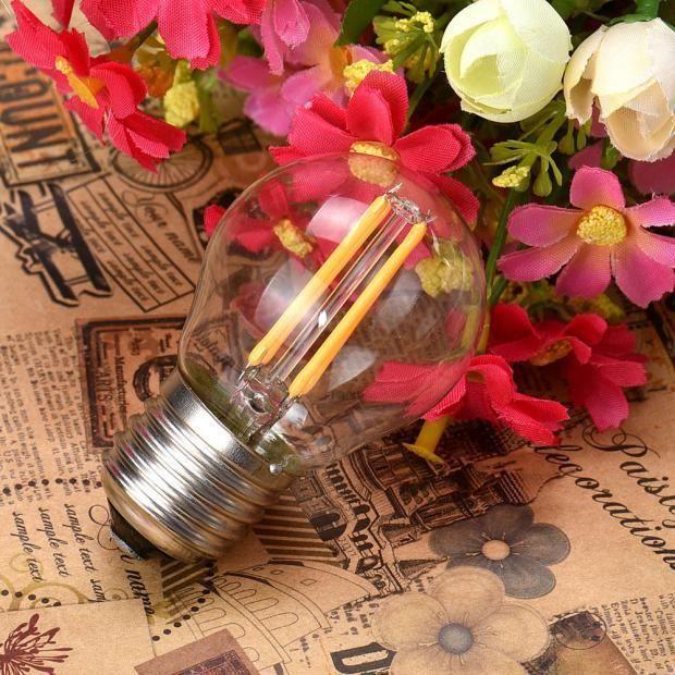 E27 Edison 220v Cob Retro Lumière Lampe 4w Led Ampoule Filament À zoozipo380 FFd7qwnr