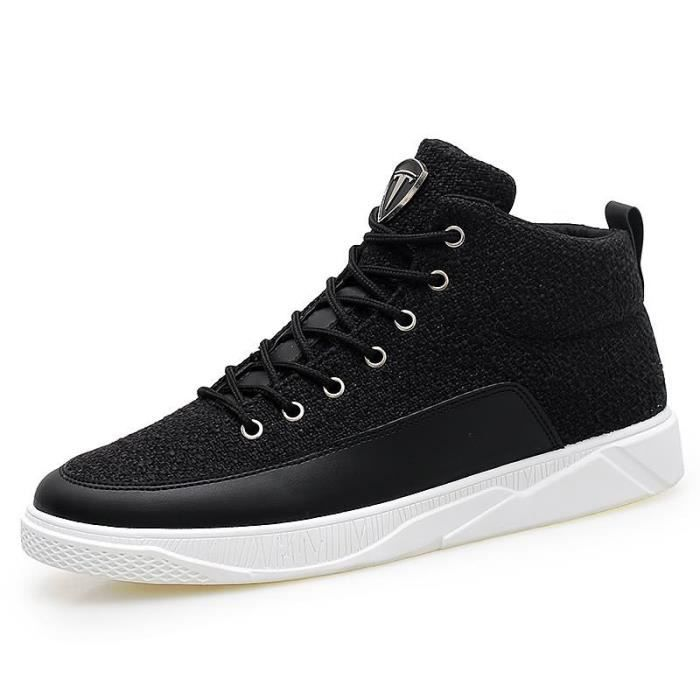 Homme Chaussures Casual Chaussures à lacets respirante Mesh Hommes Rouge Bas Superstar chaussures en toile Mocassins Noir,noir,42
