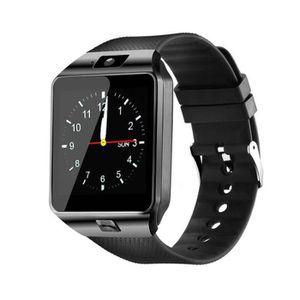 MONTRE CONNECTÉE DZ09 Smartwatch montre téléphone soutien carte TF 865978a66f07