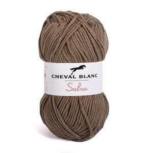 LAINE TRICOT - PELOTE Pelote de laine - SALSA - Marron - 047 3,5 5c087a3f435