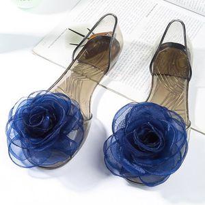 XZ758C5XZ758C5Femmes fille clair de fleurs de soie Floral Slipper Sandal Flats Jelly Shoes Pump AenNV99fM5