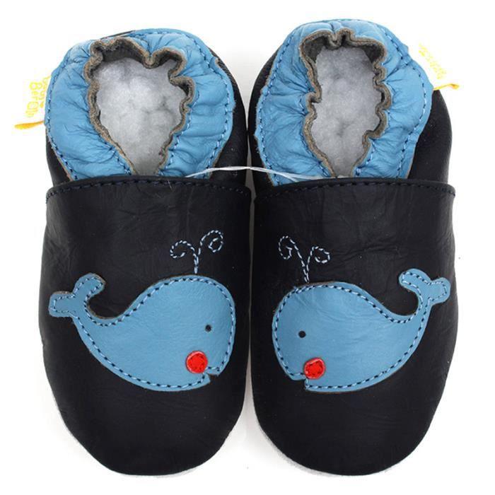 pour Baby chaussures cuir chaussures bébés foncé bleu mocassins en Bébé g8TqRwUR