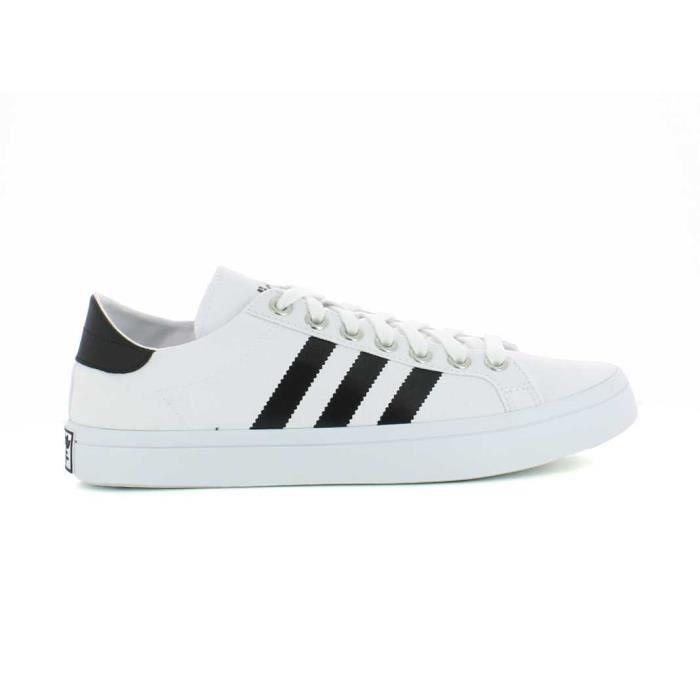 Basket Adidas Originals Court Vantage en tissu blanc