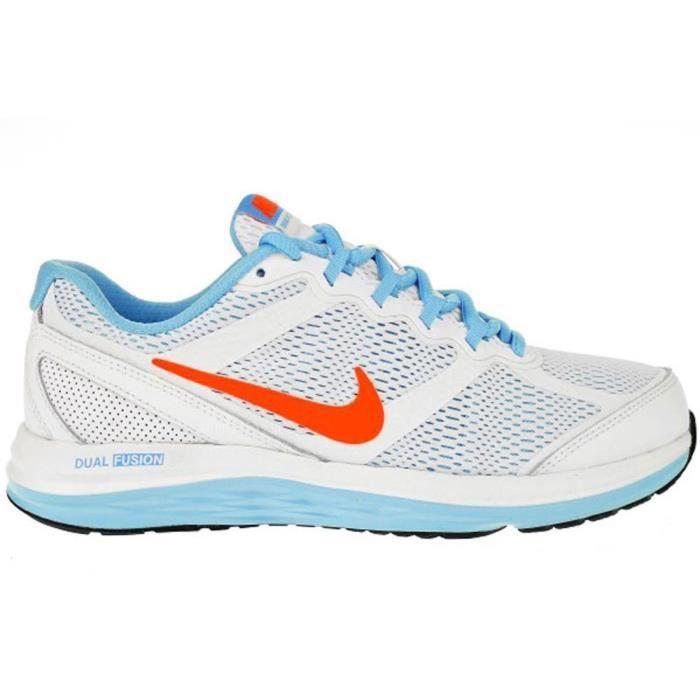 Chaussures Nike Dual Fusion Run 3 GS Blanc Blanc Achat