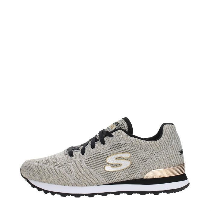 SKECHERS Sneakers Femme TAUPE/GOLD, 36