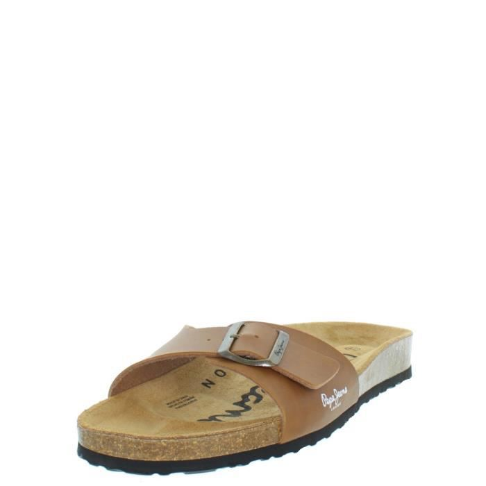 Pepe jeans Sandales  ref_pep36932-tabac Marron - Chaussures Sandale