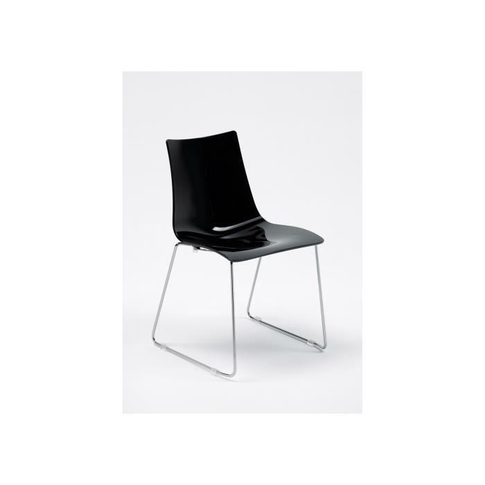 Chaise Design Zebra Pieds Luge Par Scab Design Noir Achat Vente