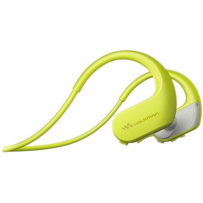 LECTEUR MP3 SONY - Walkman Sport, étanche, 4Go, Jaune