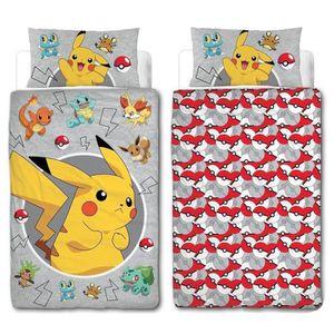 parure pokemon achat vente parure pokemon pas cher cdiscount. Black Bedroom Furniture Sets. Home Design Ideas